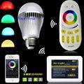 Milight 2.4G E27 9 W RGBW RGBWW RGB + Frio/Warm White LED Full Color Lâmpada + 4-zona RF Controle Remoto + Wifi Controlador