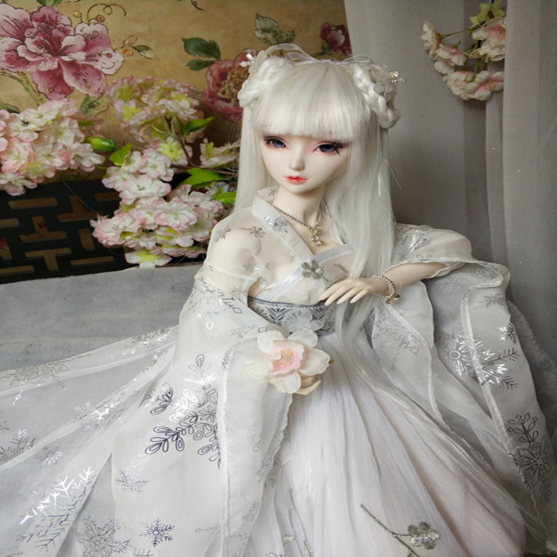 BJD Clothes chinese ancient costume bjd female white color - 1/3 1/4 Fairyland minifee 1 3 1 4 uncle bjd costume clothes ancient costume