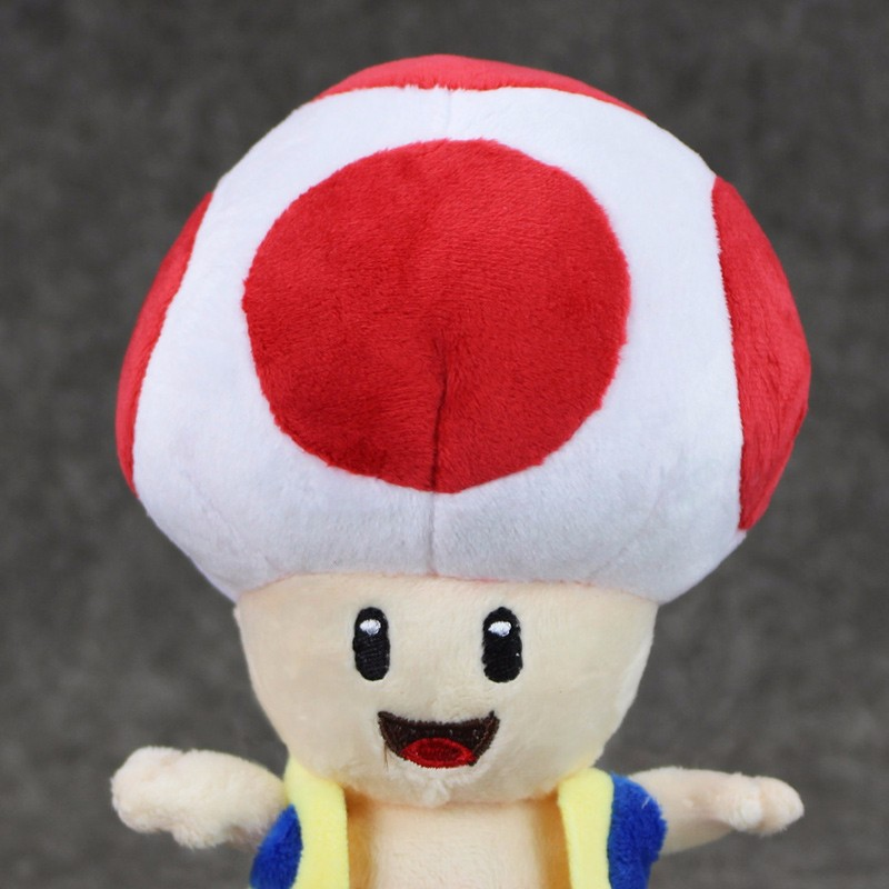 1pcs 7'' 17cmCute Super Mario Bros Plush Toys Mushroom Toad Soft Stuffed Plush Doll with Sucker Baby Toy For Kids 14