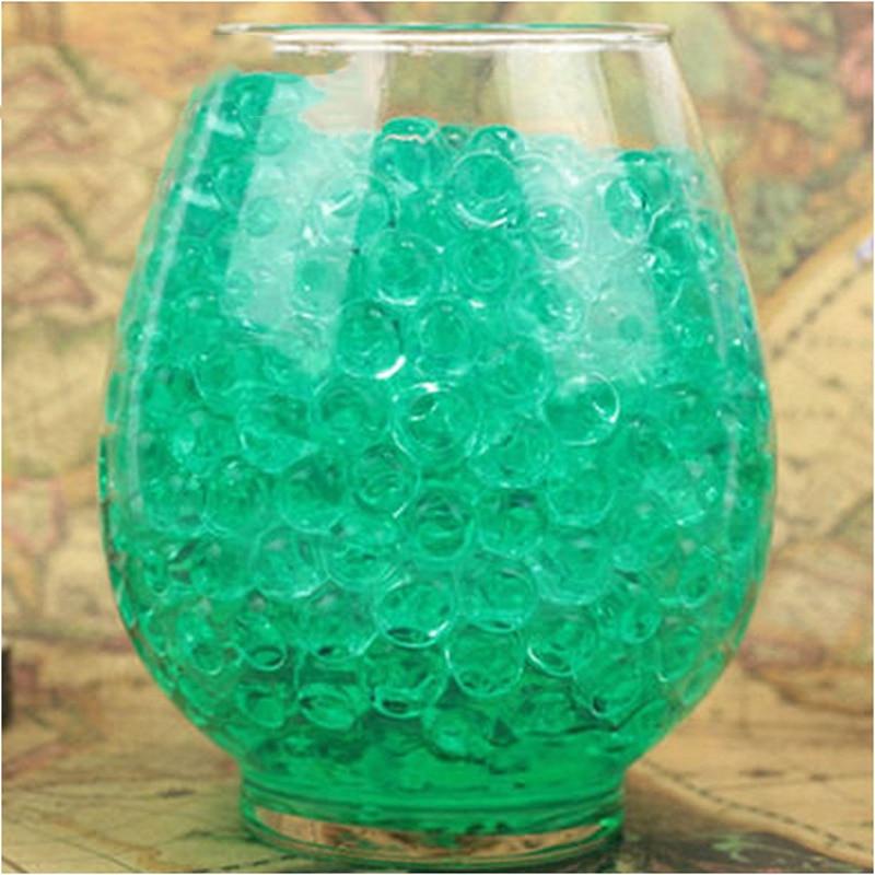 1 kg/sac perle vert foncé vase remplisseur en forme de cristal sol eau perles boue grandir magique gelée boules fête événements fournitures décor