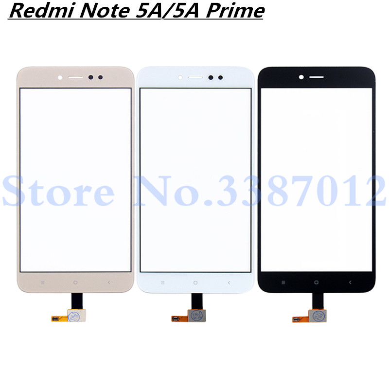 5 5'' Replacement High Quality For Xiaomi Redmi Note 5A 5A Prime Touch  Screen Digitizer Sensor Outer Glass Lens Panel