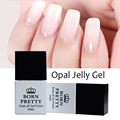 2016 Hot 1 Bottle 10ml BORN PRETTY Opal Jelly Gel White Soak Off Gel Polish Manicure Nail Art UV Gel Varnish