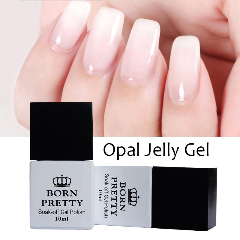 2016 Hot 1 Bottle 10ml BORN PRETTY Opal Jelly Gel White Soak Off Gel font b