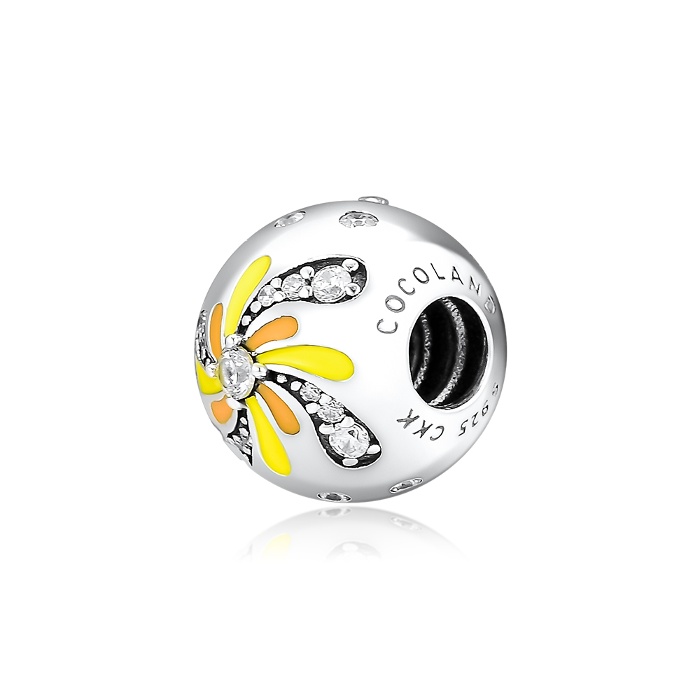 CKK Fits For Pandora Charms Bracelets Blooming Fireworks Charm 100 925 Sterling Silver Jewelry in Charms from Jewelry Accessories