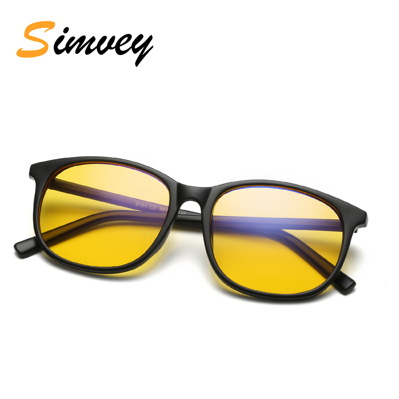Simvey Classic Retro Mens Gaming Fatigue Glasses Blue Filter Glasses for Computer Protection Womens Blue Light Reading Glasses