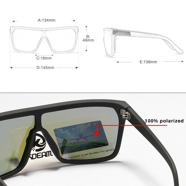 One-piece Shape Men & Women Sunglasses Polarized Elastic Paint Surface Sun Glasses Suitable Long-lasting Goggles Cat.3 4
