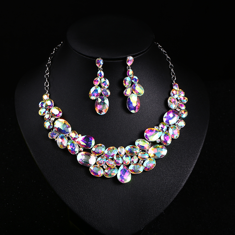 Hot sell Pearl Wedding necklace earring set Bridal jewelry set for women Elegant Party Gift Fashion Costume jewelry set