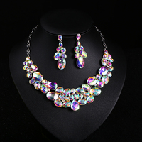 Hot Sell Pearl Wedding Necklace Earring Set Bridal Jewelry Set For Women Elegant Party Gift Fashion