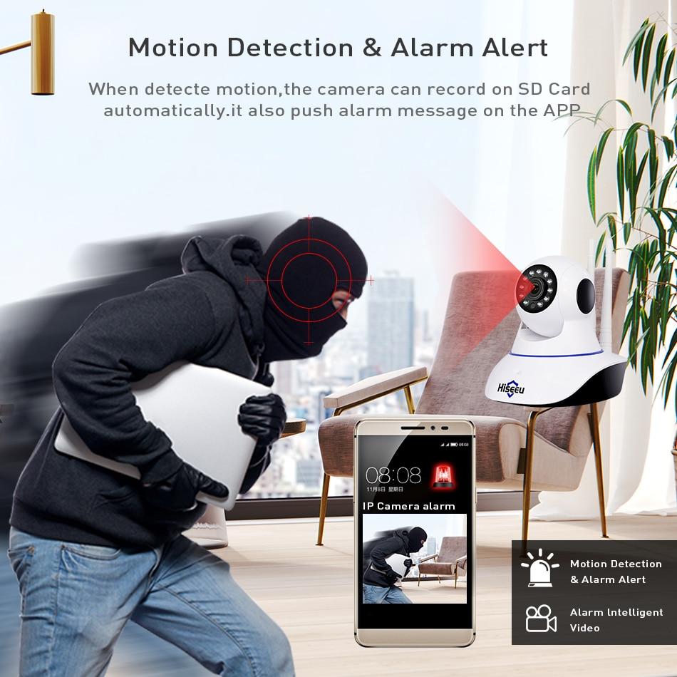 Hiseeu 720P Wireless IP Camera Wifi Night Vision Camera IP Network Camera alarm CCTV home security WI-FI P2P 1MP