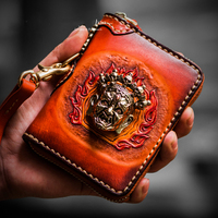 Original luxury high end literary handmade women wallets genuine leather bag square solid wealth zipper men clutch purse