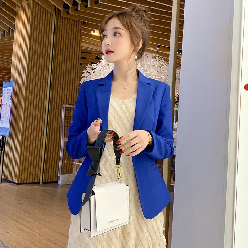Women's jacket 2019 autumn new Korean version of the self-cultivation business suit women's solid color casual small suit jacket