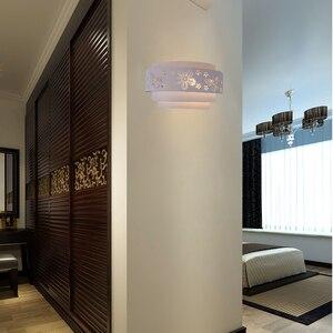 Image 2 - موردن جدار مصابيح الحد الأدنى الجوف منحوتة فراشة زهرة LED E27 جدار ضوء الشمعدانات للداخلية غرفة نوم الممر الممر ضوء