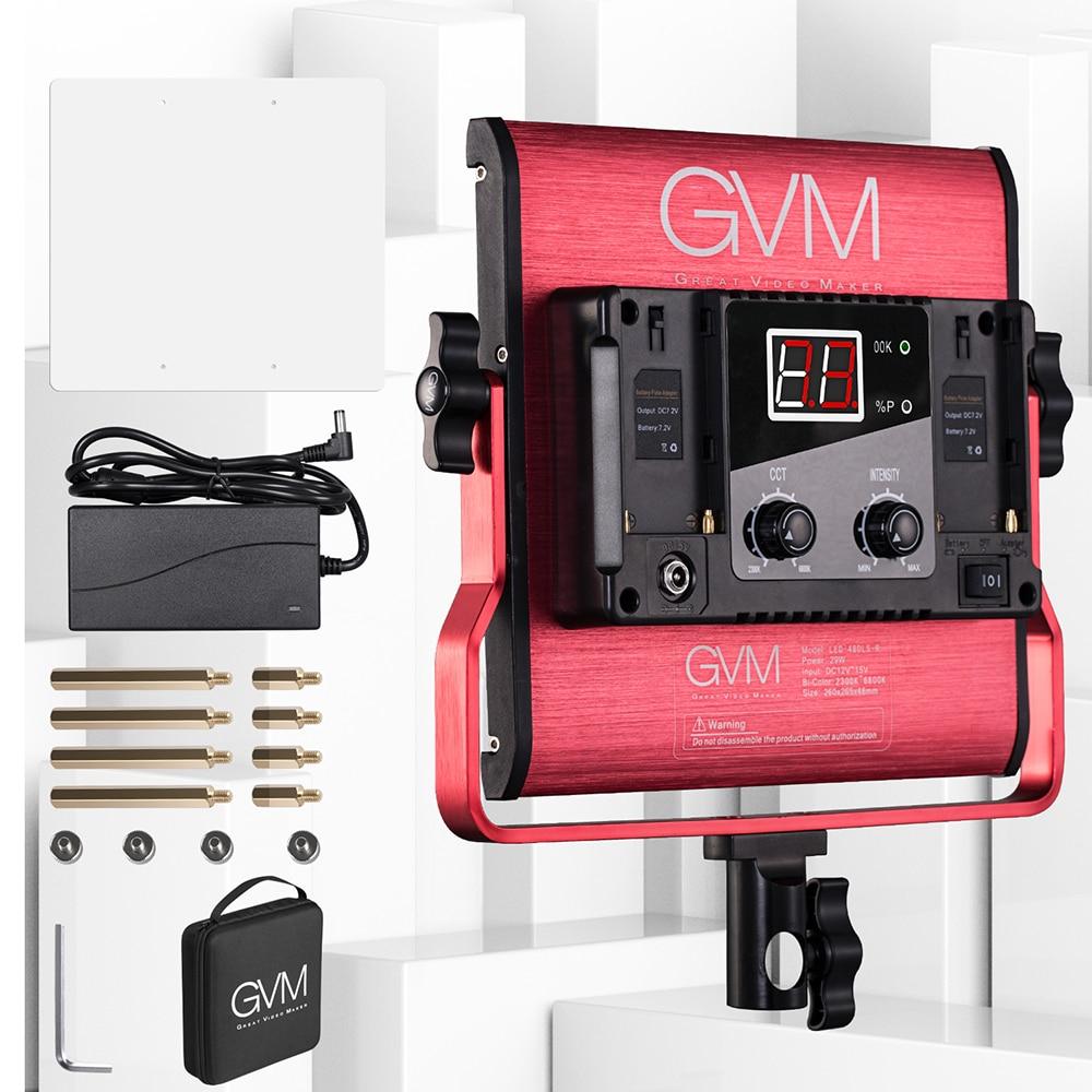 Gvm Photo Studio Led Ring Light: GVM 480LS Bi Color LED Video Light 480 LED Beads CRI97