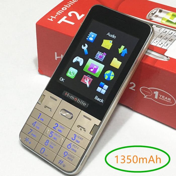 1350 mAh batterie T2 mobile téléphone 2.8 pas cher Téléphone Cellulaire gsm Téléphones cellulaires d'origine mobile téléphones Russe clavier Russe menu