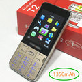 T2 de doble SIM doble modo de espera teléfono móvil 2.8 pulgadas de pantalla del teléfono celular teclado Ruso teléfono h-mobile T2