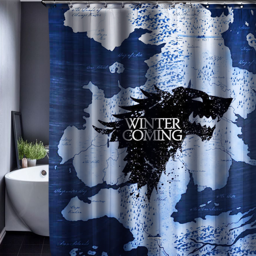 game of thrones customized shower curtain waterproof bathroom fabric 165x180cm shower curtain for