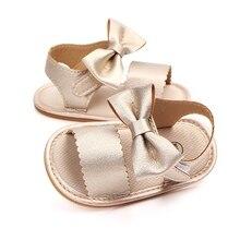 Baby Cute Sandals Newborn Girl Bow Tie Summer Shoes Casual Fashion Girls PU