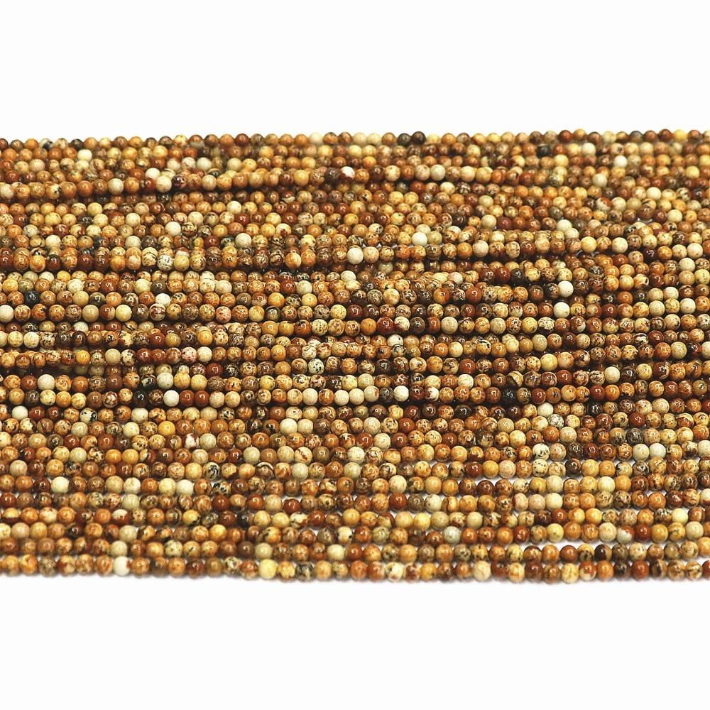 ΞImagen de piedra Natural 2mm 3mm ronda sueltas separadores ...