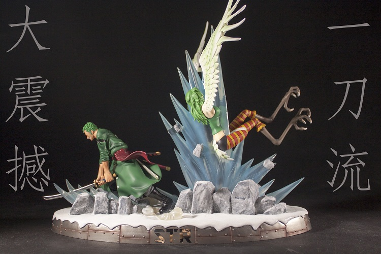 MODEL FANS IN-STOCK One Piece 35cm Roronoa Zoro VS Monet gk resin toy Figure for Collection contain led light brand new portrait of pirates one piece roronoa zoro 23cm pvc cool cartoon action figure model toy for gift kids free shipping
