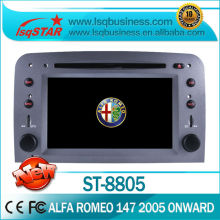 For car dvd stereo For Fiat Alfa Romeo 147 (2005 onwards) With gps bluetooth radio PIP ipod USB SD Slot