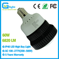 E39 mogul base LED high bay Bulb 60W replace 250W metal halide light 100~277V corn lamp with cover