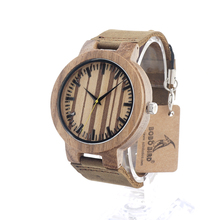 BOBO BIRD C21 Men's Design Brand Luxury Wooden Bamboo Watches With Real Leather Quartz Watch for Men In Gift Box