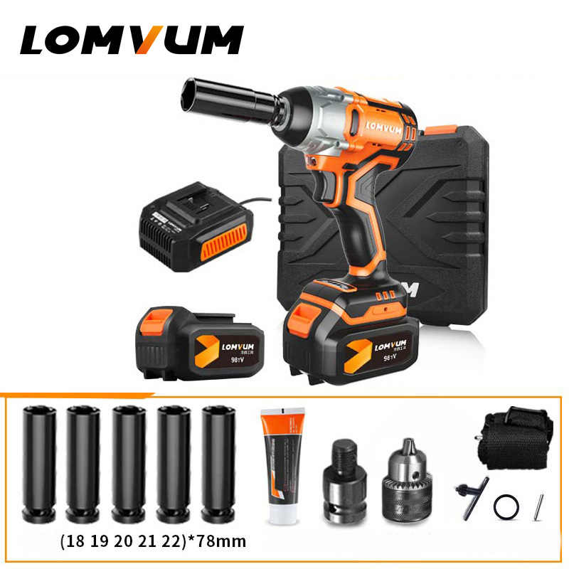 Lomvum Brushless Wrench Wheel Hilti Tool Cordless Electrical Impact Ful Nut Spanners Gun Avvitatore