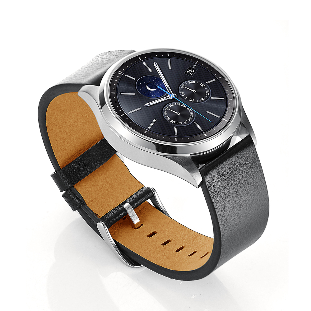 3 Colors 22mm Black Watch Bands Genuine Leather Strap For Samsung Gear S3 Classic Smart Watch Replacement Wristband Accessories