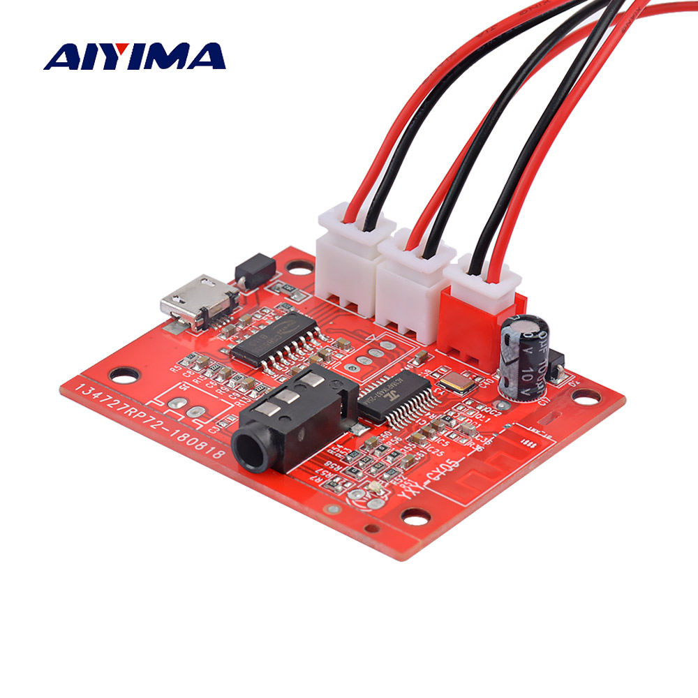 AIYIMA Bluetooth 4.2 Amplifier Audio Board 5W*2 Stereo Amplificador AUX Wireless Bluetooth Receiving Modification DC3.7-5V