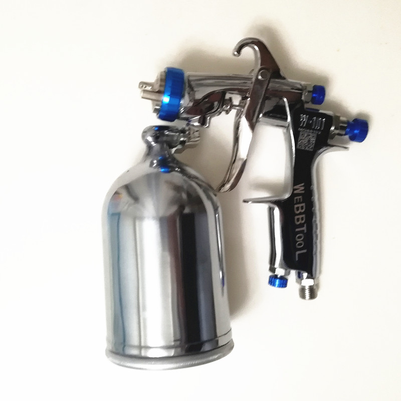 Image 4 - Genuine qr cod W 101 Spray Gun 134G  w101 HVLP Manual Paint spray Gun Gravity  1.0/1.3/1.5/1.8mm  Furniture Car Coating Painting-in Spray Guns from Tools