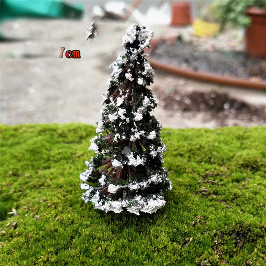 1ピースミニツリー妖精ガーデン装飾ミニチュアマイクロ風景樹脂工芸盆栽置物ガーデンテラリウムアクセサリー