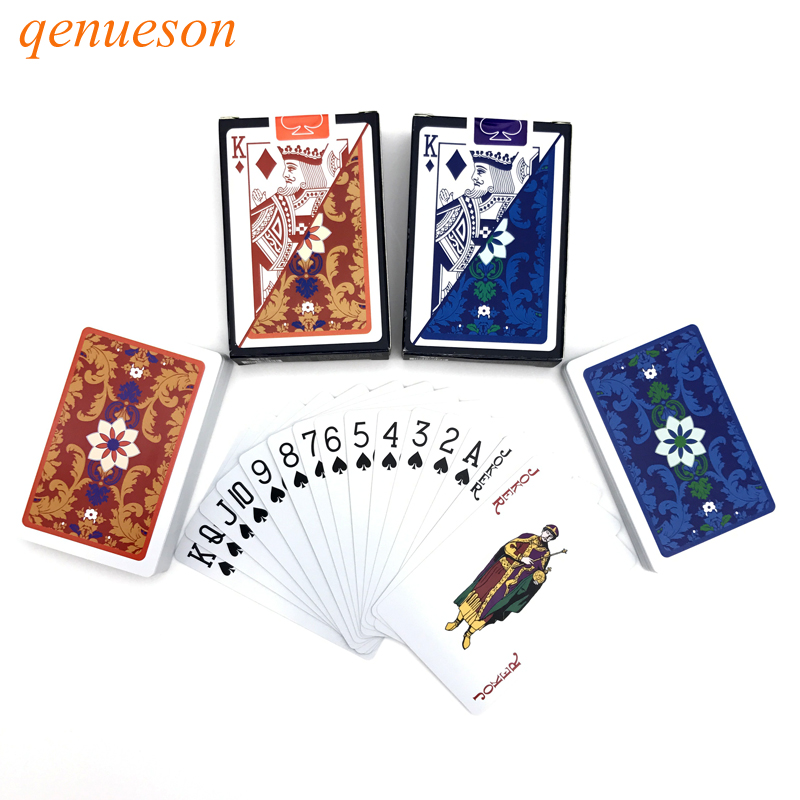 1Sets/Lot 2 Color For Red And Blue pattern Baccarat Texas Hold'em PVC Poker Game Waterproof Plastic Playing Poker Cards qenueson цена