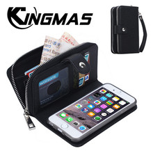 High-end zipper wallet leather phone cover for iPhone 5S 6 6S 7 8 plus X XS XR MAX for apple card magnetic phone case handbag