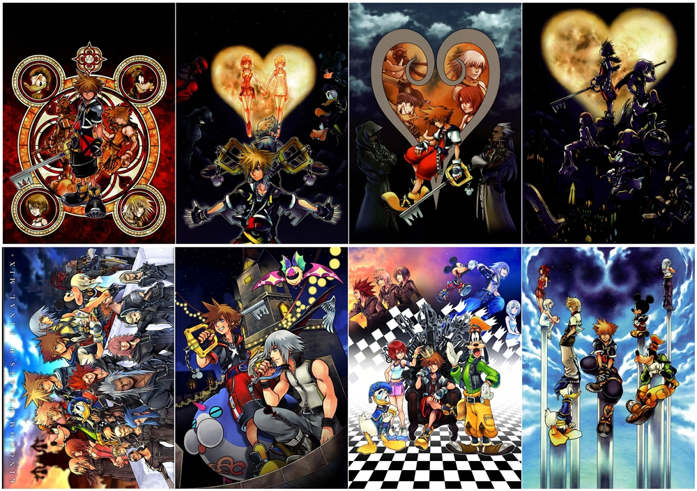 kingdom hearts polypropylene a3 8 pieces posters wall poster ppp029