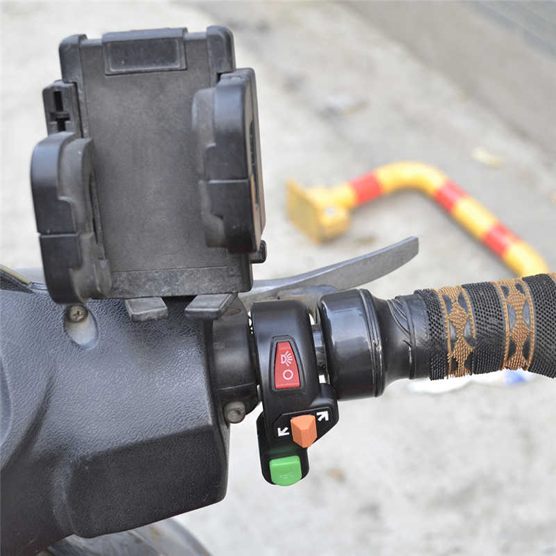 "Universal 3 In1 Sepeda Motor Sinyal On/Mati Ringan ATV 7/8 ""Sakelar Klakson"