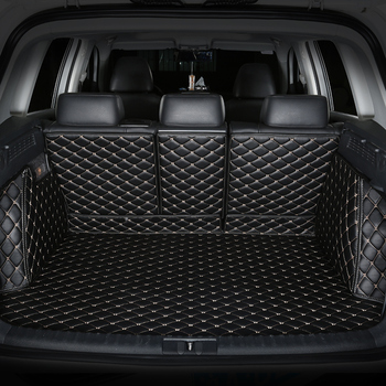 CHOWTOTO Custom Special Trunk Mats For Land Rover Freelander Durable Waterproof Leather Luggage Mat For Freelander2 Boot Pad