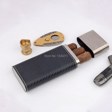 100% Original Car Foil Carbon Fiber Cigar Holder Cohiba to Protect 3 Fingers Cigars Up to 54 Rings Cigar for men(China)
