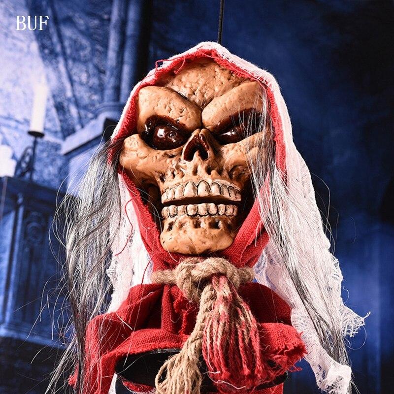 BUF Halloween Fête Pendaison Décoration Sorcière Figure Créative Halloween  Fête Décoration Effrayant Horreur Fantômes Avec Capteur De Lumière Dans  Partie ...