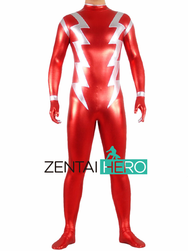 Free Shipping DHL NEW Shiny Red The Flash Superhero Costume Cosplay Zentai Catsuit 2016 Flash Man Fancy Costume 16082902 free shipping dhl custom made new arrival sexy red pvc zentai catsuit zentai suit for halloween party front zipper zp1508