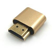 200 pcs/lot HDMI DDC EDID Dummy Plug Headless Ghost Display Emulator for PC / Mac Mini