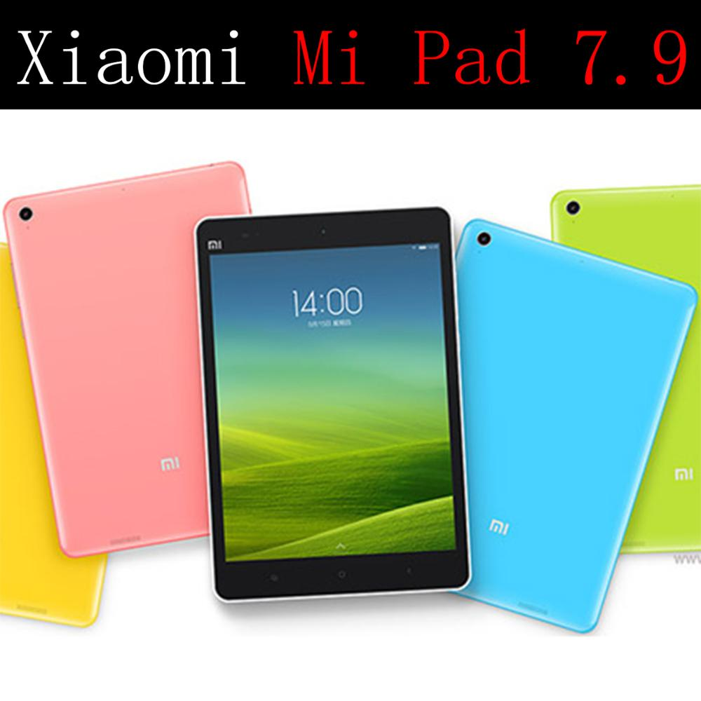 QIJUN tablet flip case for Xiaomi Mi Pad 7 9 quot leather Stand Cover Silicone soft shell fundas thin capa coque card for Mipad 2014 in Tablets amp e Books Case from Computer amp Office