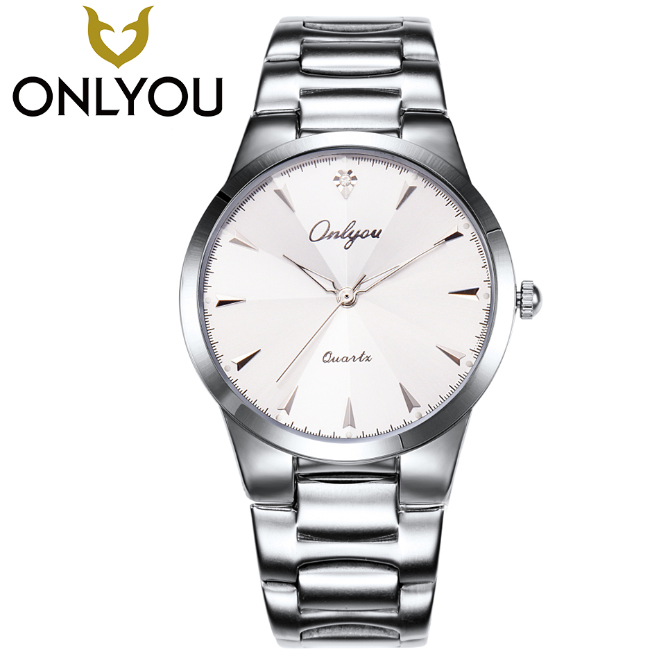 ONLYOU Lover Quartz Watch Men Luxury Watches Relogio Masculino Fashion Casual Stainless steel Waterproof Womens Wristwatch Gift mige 2017 new hot sale lover man watch rose gold case white casual ultrathin waterproof relogio masculino quartz mans watches