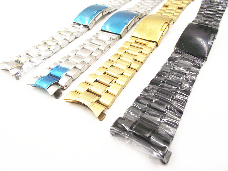 -18MM 20MM 22MM 24MM Solid Stainless Steel Watch band curved end strap 4 color available -1532705 - Tony' online store -Low price every day