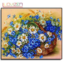 Flower Arrangement Diy 5D Diamond Paintings Cross Stitch Embroidered Wall Sticker Vase.LUOVIZEM L094