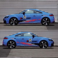 World Datong Both side body sport auto stickers For Audi TT TT RS Auto Body Customized Decal Exterior Accessories