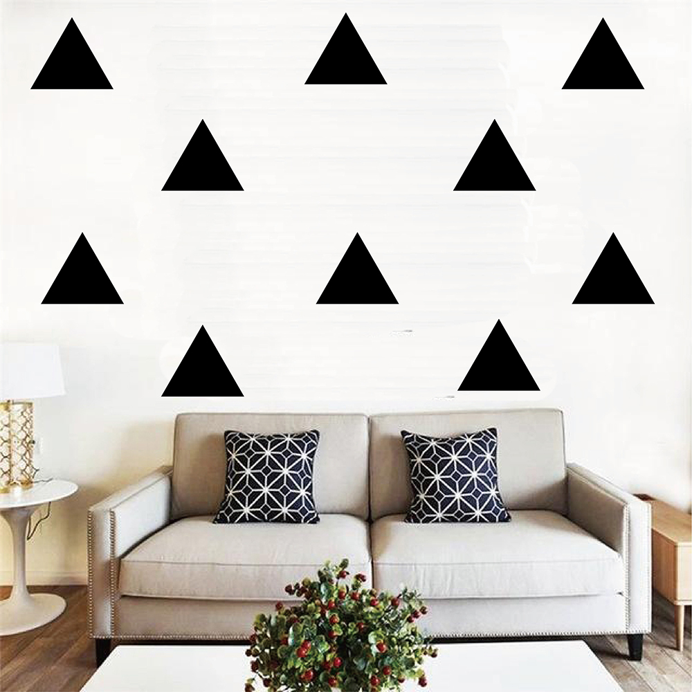 Big Triangle Wall Sticker Baby Nursery Triangle Wall Decal Gold Triangle Wall Stickers For Kids Rooms Home Decoration P4 in Wall Stickers from Home Garden