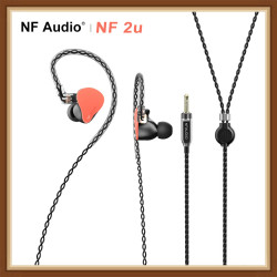 NF AUDIO NF2u 2 Knowles Armatures Drivers(2 way crossover) HiFi In-ear Music Monitor Earphone IEM 0.78mm 2pin Detachable Cable