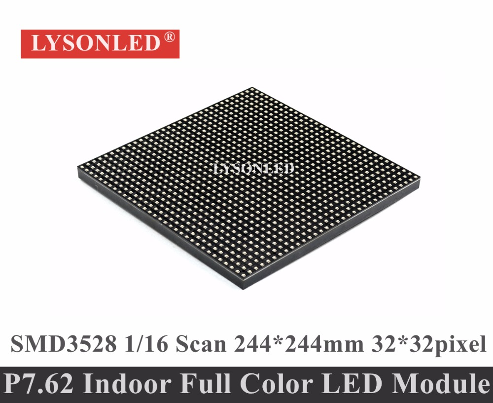 P7.62 Full Color RGB Indoor LED Display Module 1/16 Scan , 244*244MM P7.62 Indoor Module