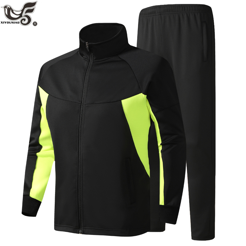 Plus Size M~6XL Men's Tracksuit For Splice Jacket + Pant Sweatsuit Sports Suits Women Joggers Athletic Men Sets