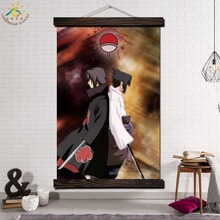 Naruto Animation Single Vintage Posters and Prints Scroll Painting Canvas Wall Art Pictures Framed Home Decoration